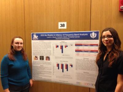 grad students at poster presentation
